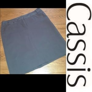 Size 16 plus brown straight skirt